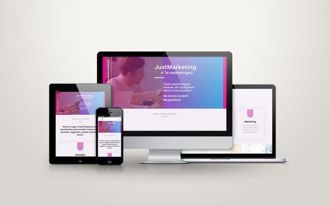 Justmarketing.hu weboldal készítés