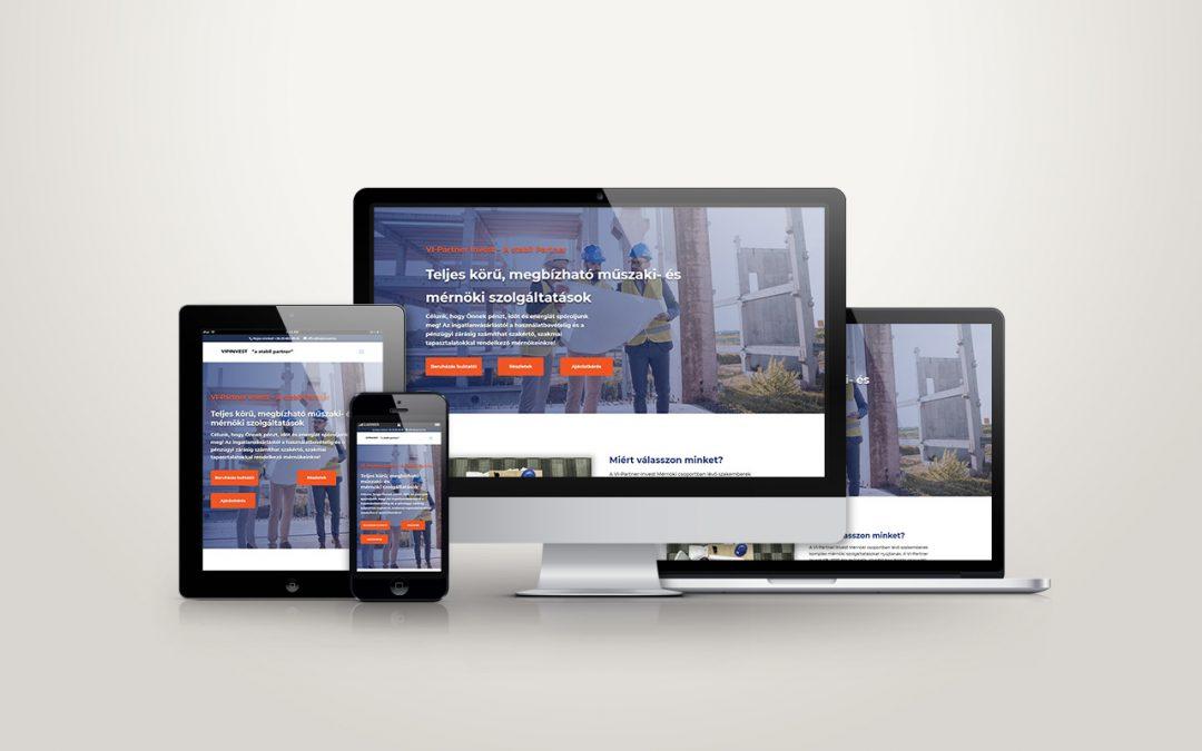 Vipinvest weboldal készítés